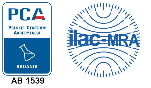 Akredytacja PCA nr AB 1539